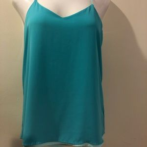 Two Tone Blue Top